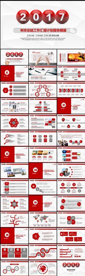 框架完整的年终总结汇报工作计划动态PPT模板