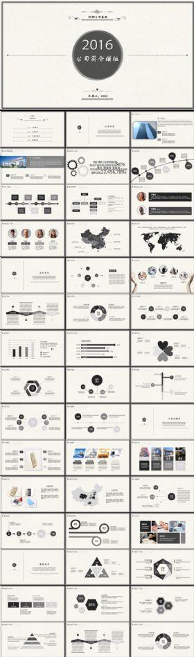 复古风公司简介企业宣传产品介绍PPT模板下载