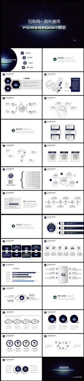 互联网商务商业计划书ppt模板