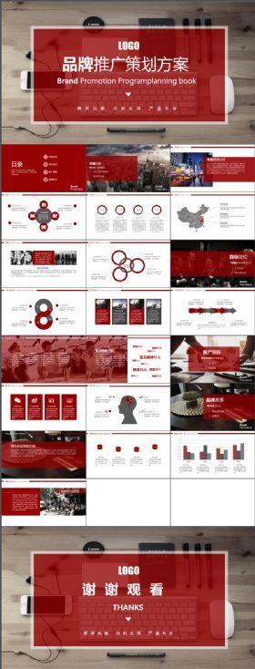 时尚潮流品牌推广策划书商业计划书营销策划书精美ppt模板