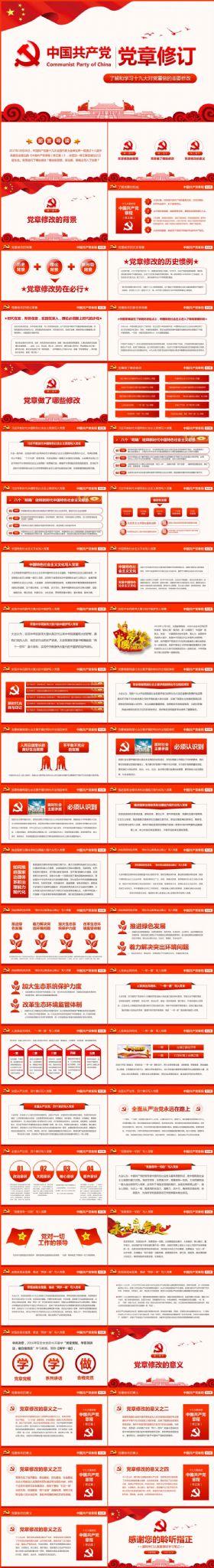 学习解读十九届的大新党章重要修改内容修改背景意义PPT